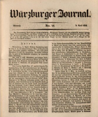 Würzburger Journal Mittwoch 9. April 1834