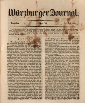 Würzburger Journal Donnerstag 10. April 1834