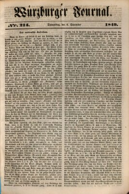 Würzburger Journal Freitag 6. September 1839