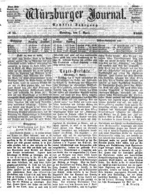 Würzburger Journal Samstag 7. April 1860