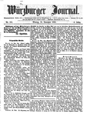 Würzburger Journal Montag 26. November 1860