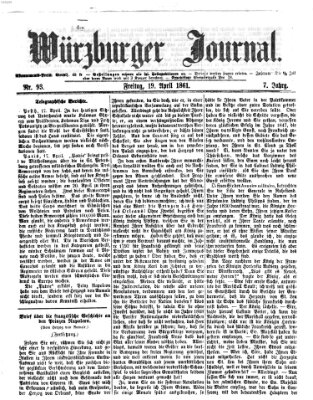 Würzburger Journal Freitag 19. April 1861