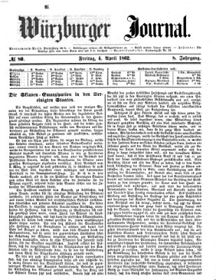 Würzburger Journal Freitag 4. April 1862