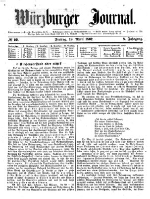 Würzburger Journal Freitag 18. April 1862