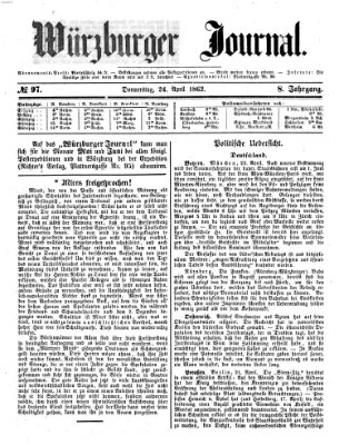 Würzburger Journal Donnerstag 24. April 1862