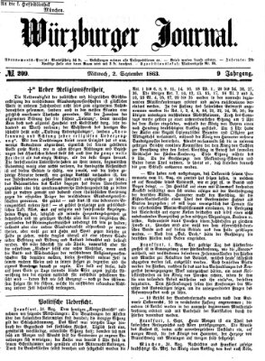 Würzburger Journal Mittwoch 2. September 1863
