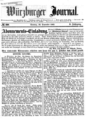 Würzburger Journal Samstag 26. September 1863