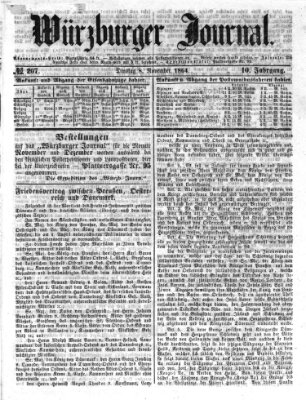 Würzburger Journal Dienstag 8. November 1864