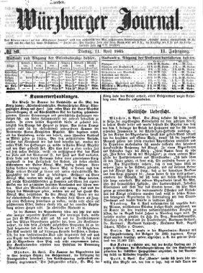 Würzburger Journal Dienstag 11. April 1865