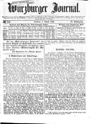 Würzburger Journal Samstag 5. August 1865