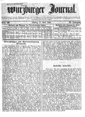 Würzburger Journal Dienstag 17. April 1866