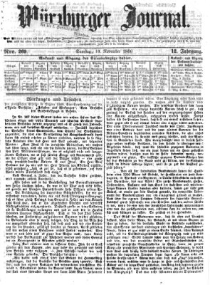 Würzburger Journal Samstag 10. November 1866