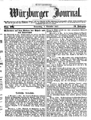 Würzburger Journal Donnerstag 7. November 1867