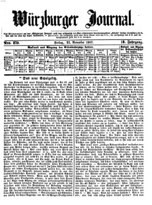 Würzburger Journal Freitag 22. November 1867