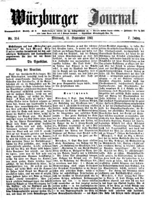Würzburger Journal Mittwoch 11. September 1861