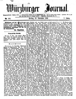 Würzburger Journal Freitag 29. November 1861