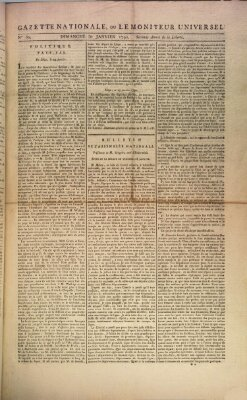 Gazette nationale, ou le moniteur universel (Le moniteur universel)