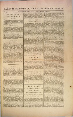 Gazette nationale, ou le moniteur universel (Le moniteur universel) Freitag 8. April 1791