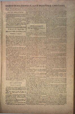 Gazette nationale, ou le moniteur universel (Le moniteur universel) Dienstag 17. November 1795