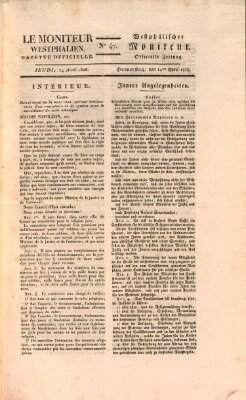 Le Moniteur westphalien Donnerstag 14. April 1808