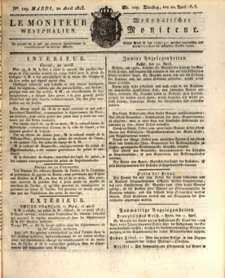Le Moniteur westphalien Dienstag 20. April 1813