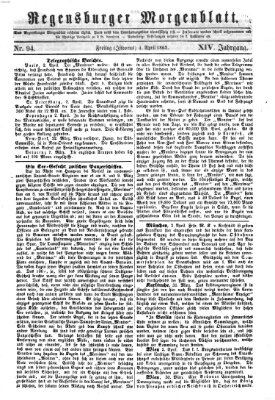 Regensburger Morgenblatt Freitag 4. April 1862