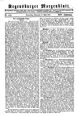 Regensburger Morgenblatt Donnerstag 24. April 1862
