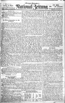 Nationalzeitung Freitag 19. April 1861