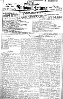 Nationalzeitung Dienstag 1. April 1862