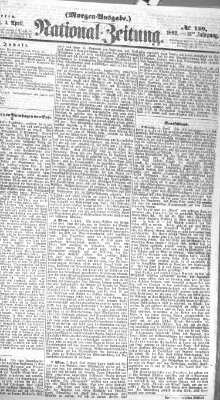 Nationalzeitung Freitag 4. April 1862