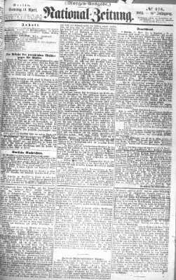 Nationalzeitung Sonntag 13. April 1862