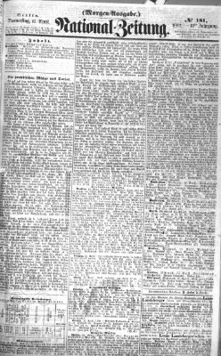 Nationalzeitung Donnerstag 17. April 1862