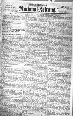 Nationalzeitung Freitag 18. April 1862