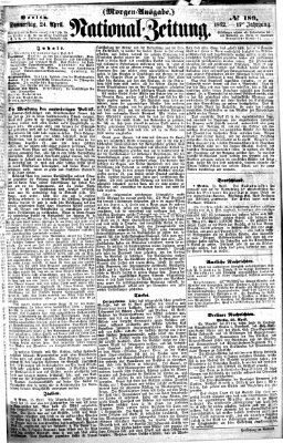 Nationalzeitung Donnerstag 24. April 1862