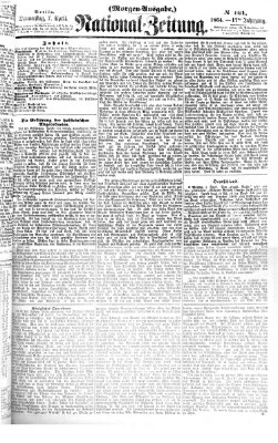 Nationalzeitung Donnerstag 7. April 1864