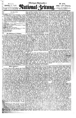 Nationalzeitung Sonntag 17. April 1864