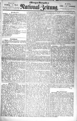 Nationalzeitung Dienstag 11. April 1865