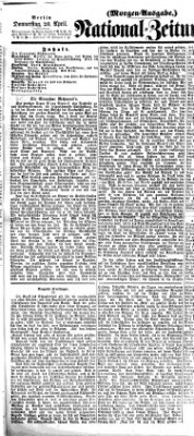 Nationalzeitung Donnerstag 20. April 1865