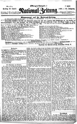 Nationalzeitung Freitag 25. September 1868