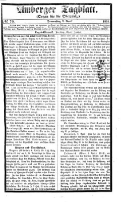 Amberger Tagblatt Donnerstag 7. April 1864