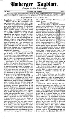 Amberger Tagblatt Montag 29. August 1864