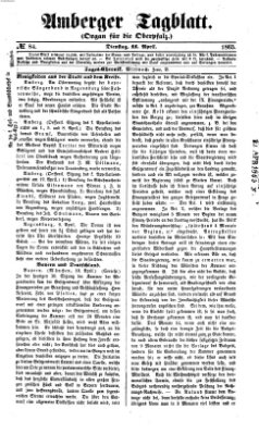 Amberger Tagblatt Dienstag 11. April 1865