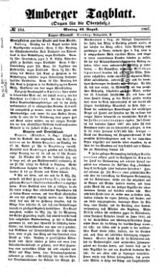Amberger Tagblatt Montag 12. August 1867