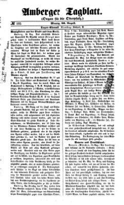 Amberger Tagblatt Montag 26. August 1867