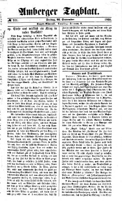 Amberger Tagblatt Freitag 25. September 1868