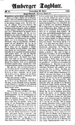 Amberger Tagblatt Donnerstag 22. April 1869