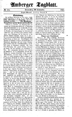 Amberger Tagblatt Donnerstag 30. September 1869