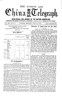 The London and China telegraph Montag 28. Oktober 1861