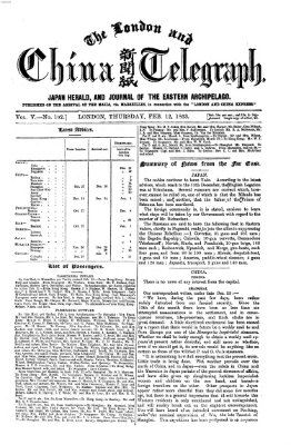 The London and China telegraph Donnerstag 12. Februar 1863