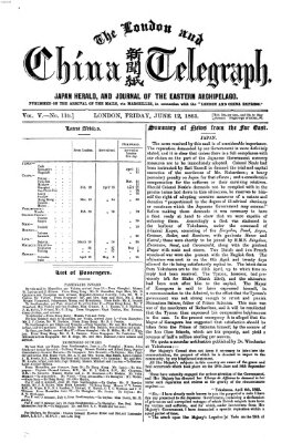 The London and China telegraph Freitag 12. Juni 1863